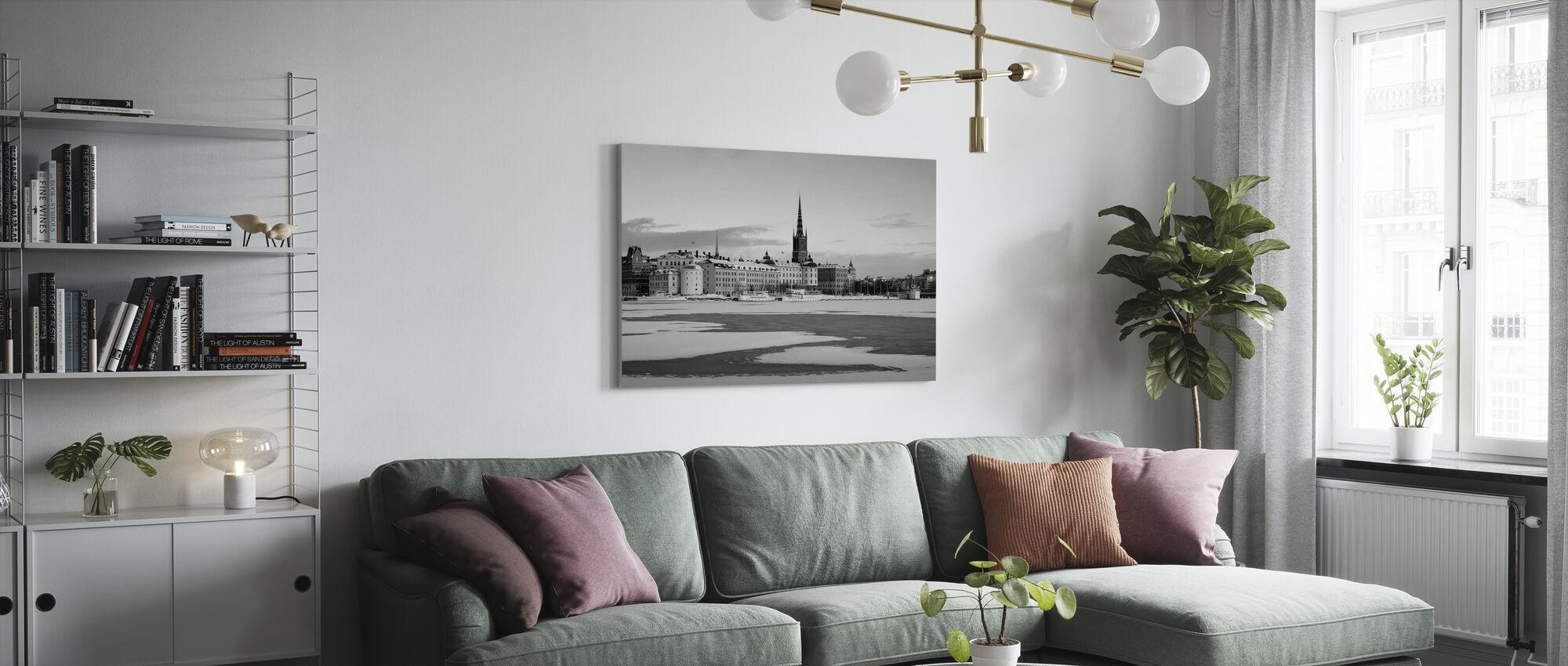 Inverno a Stoccolma, Svezia - Stampa su tela - Salotto