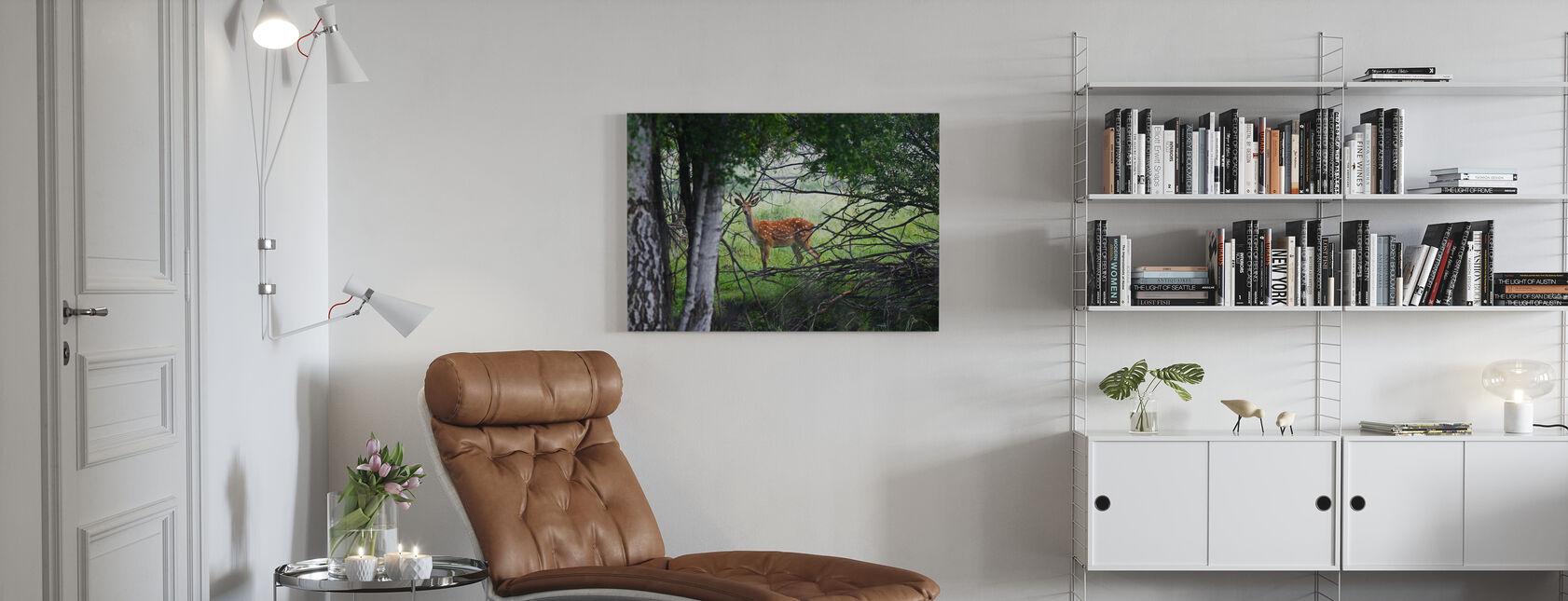 Cervo selvatico - Stampa su tela - Salotto
