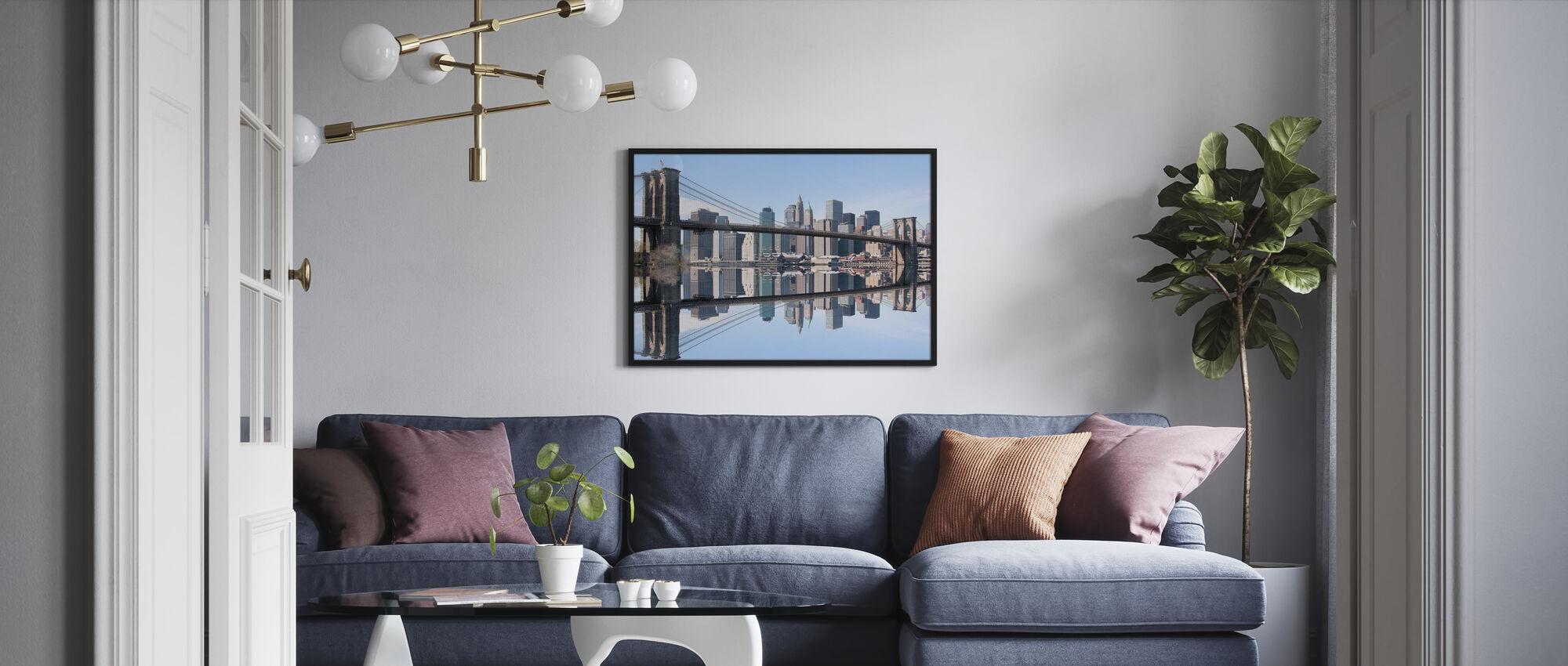 Brooklyn Bridge klart blå dag - Plakat - Stue
