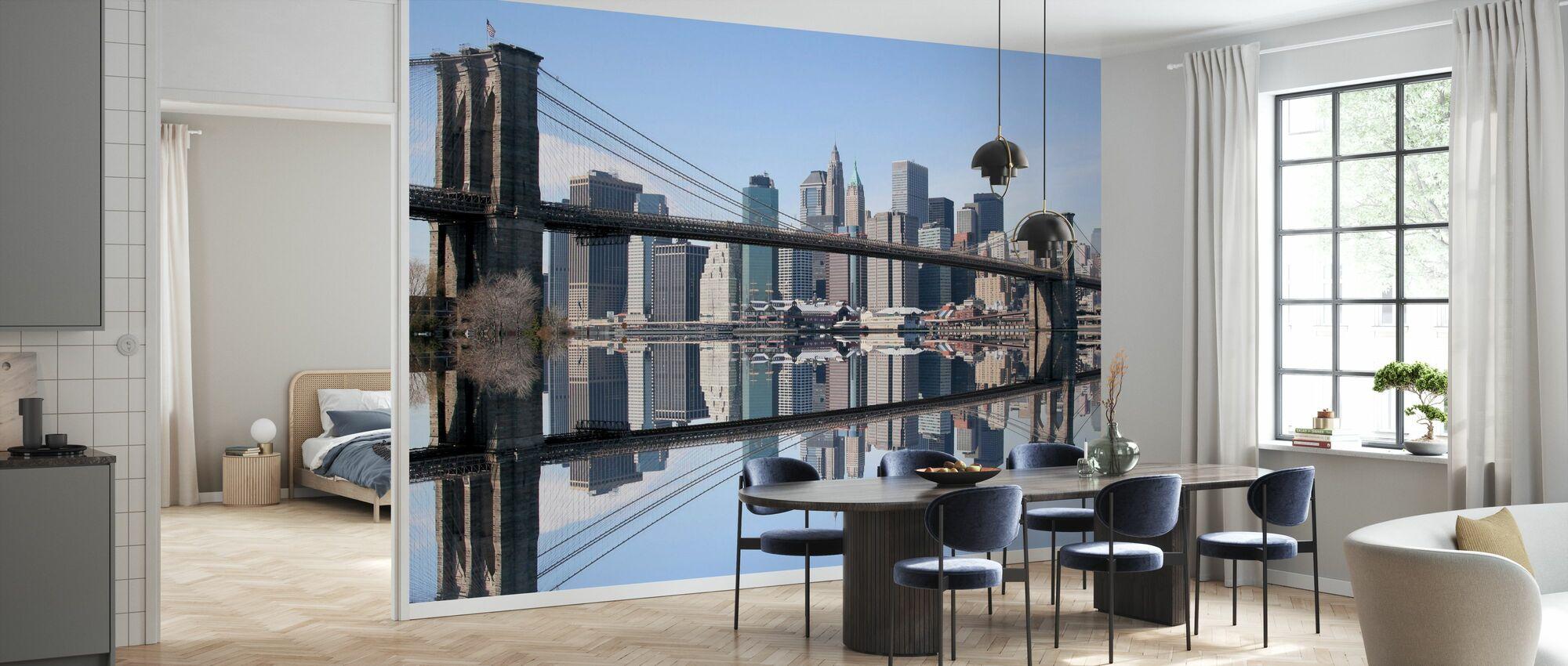 Pont de Brooklyn Clear Blue Day - Papier peint - Cuisine