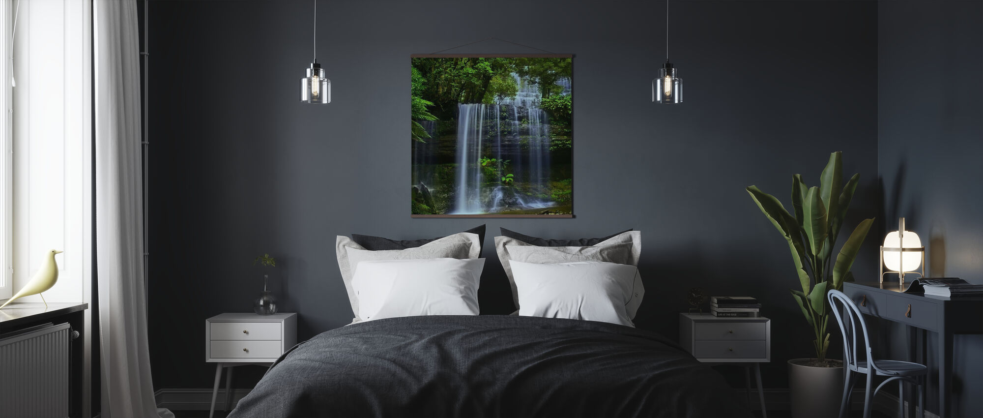 Tasmania Waterfall - Poster - Bedroom