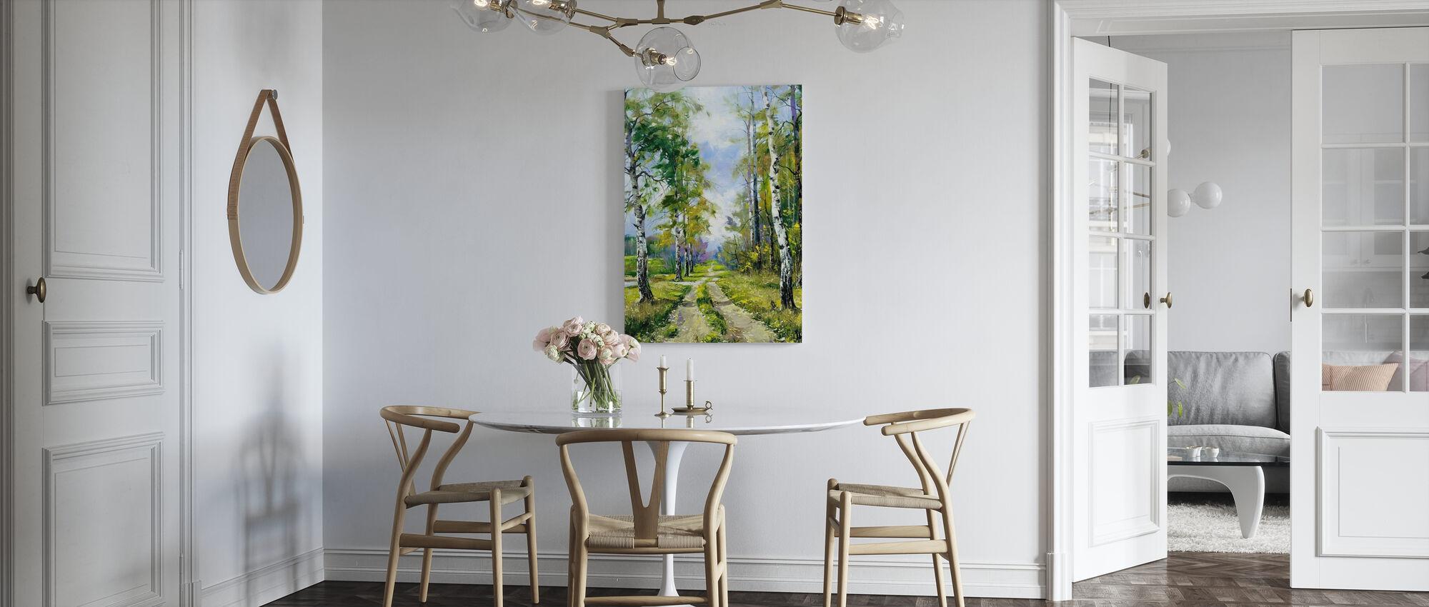 Ścieżka brzozowa - Obraz na płótnie - Kuchnia