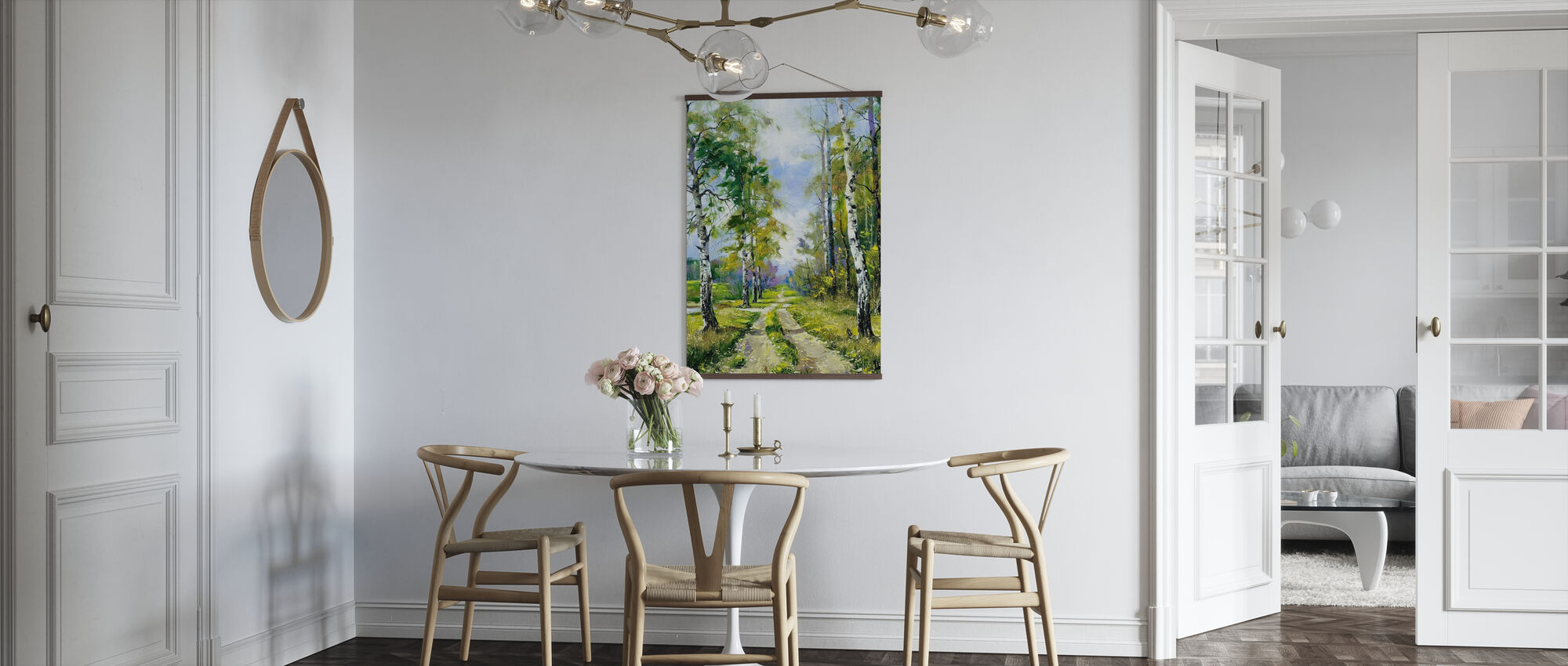 Birch Path - Poster - Kitchen