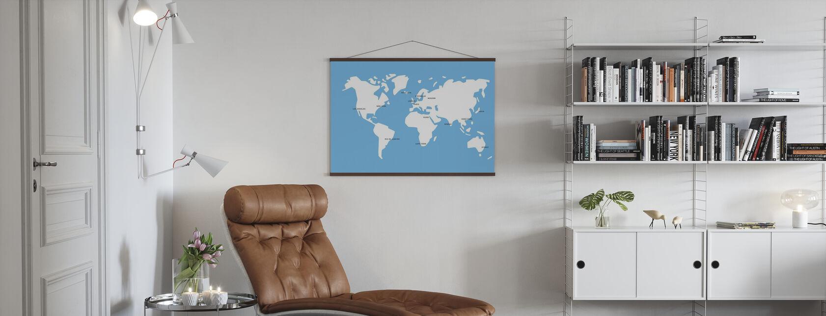 Mannerstal World Map - Affiche - Salle à manger