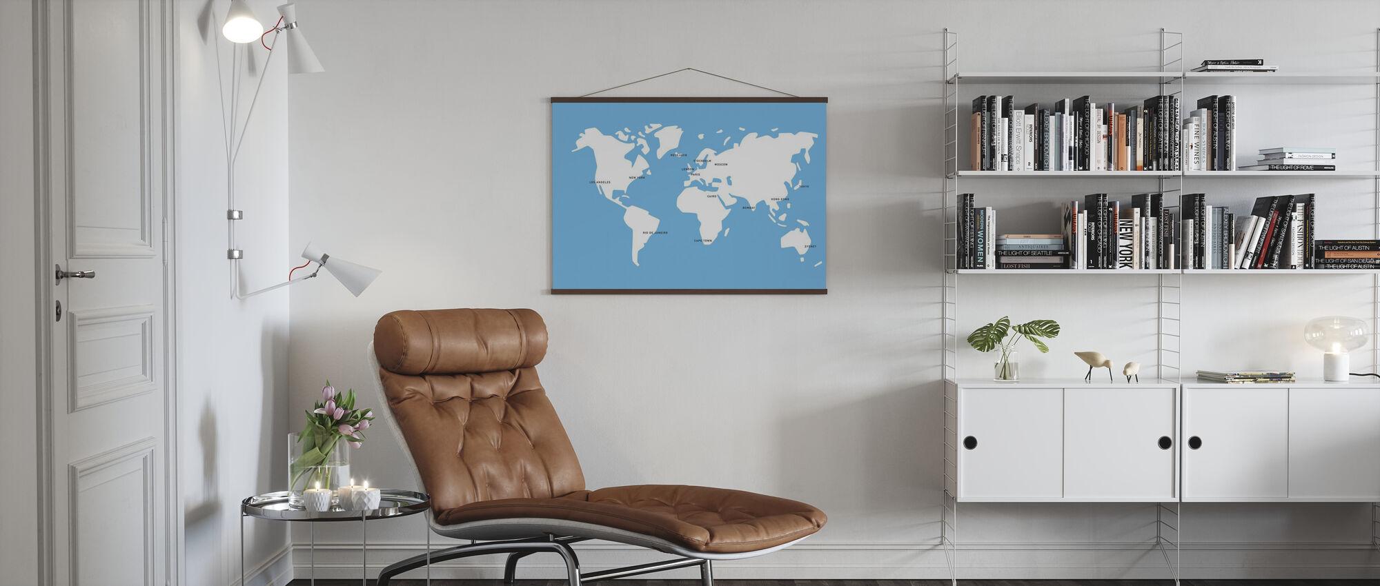Mannerstal World Map - Poster - Living Room