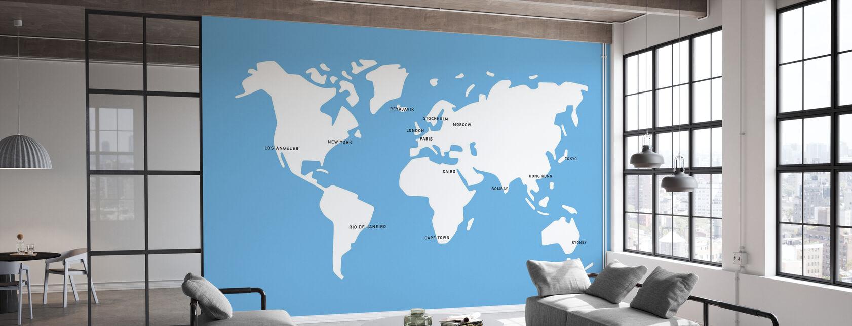 Mannerstal World Map - Papier peint - Bureau
