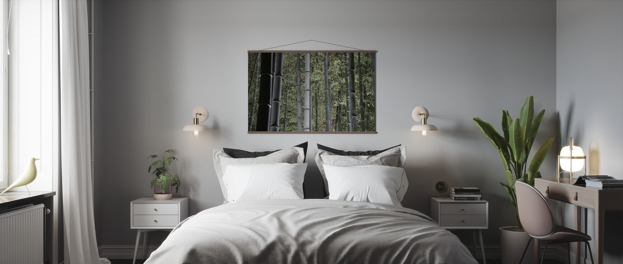Bambus skov om natten - Plakat - Soverom