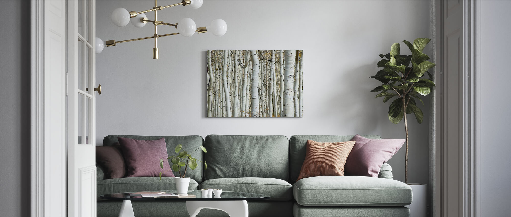 Aspen Forest - Canvas print - Living Room