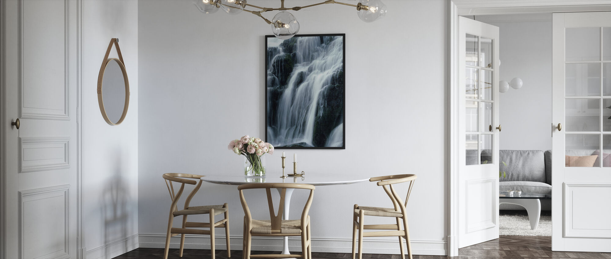 Waterfall - Framed print - Kitchen