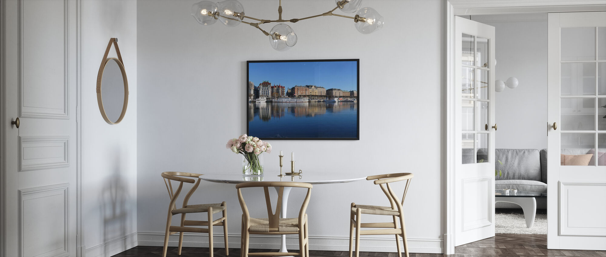 Stockholm Skyline, Sweden - Framed print - Kitchen