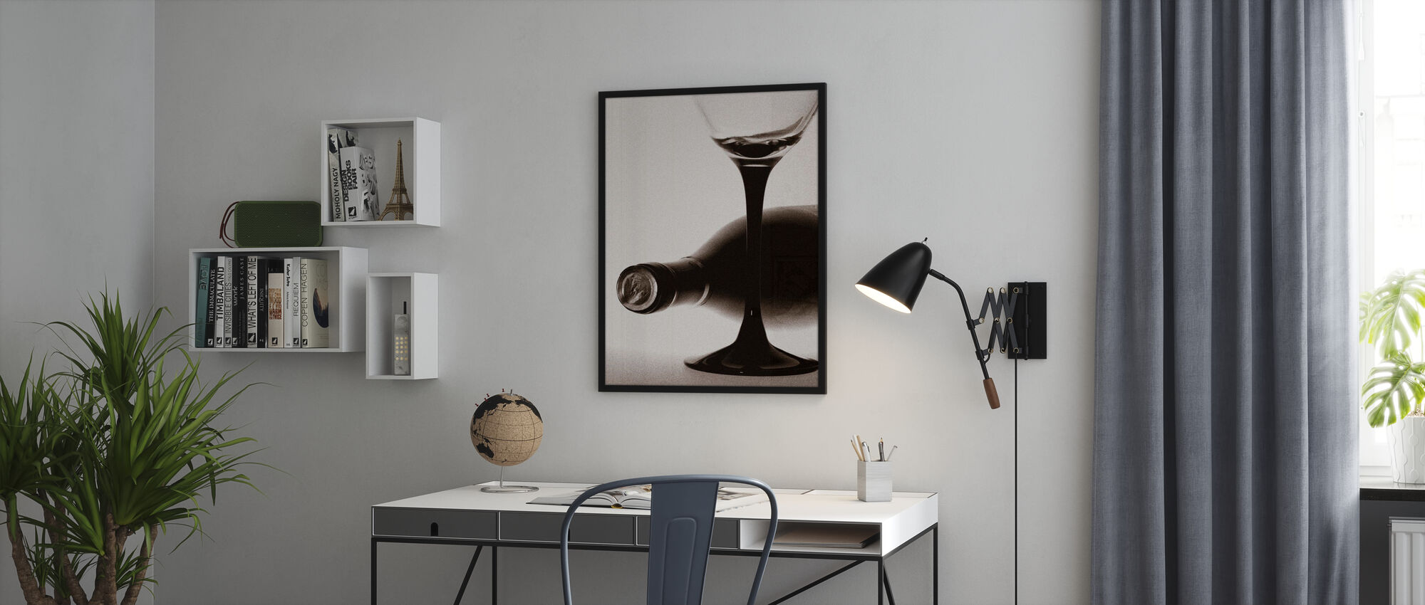 Grainy Winebottle - Poster - Office