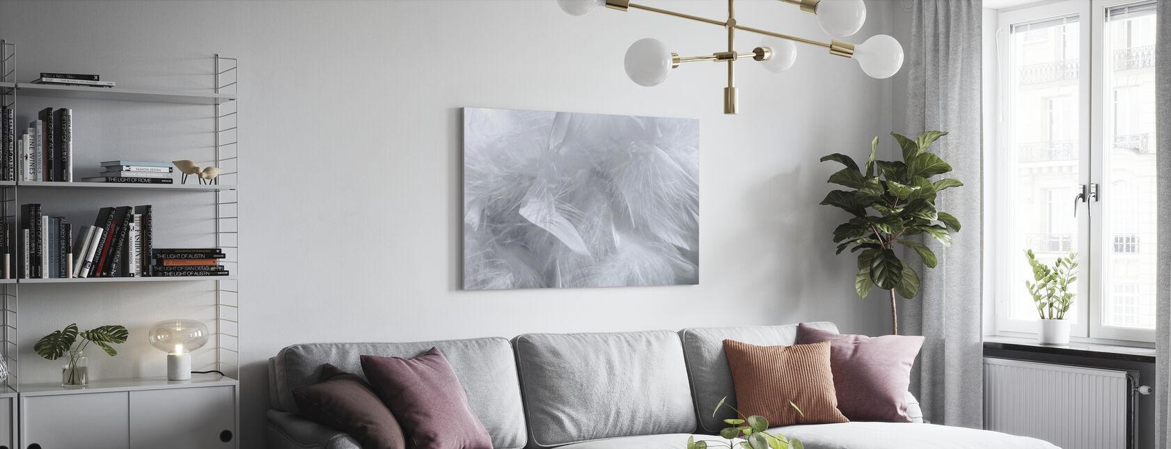 Patroon met veren - Canvas print - Woonkamer