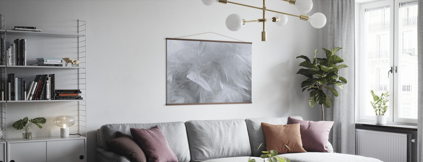 Feather Pattern - Poster - Living Room