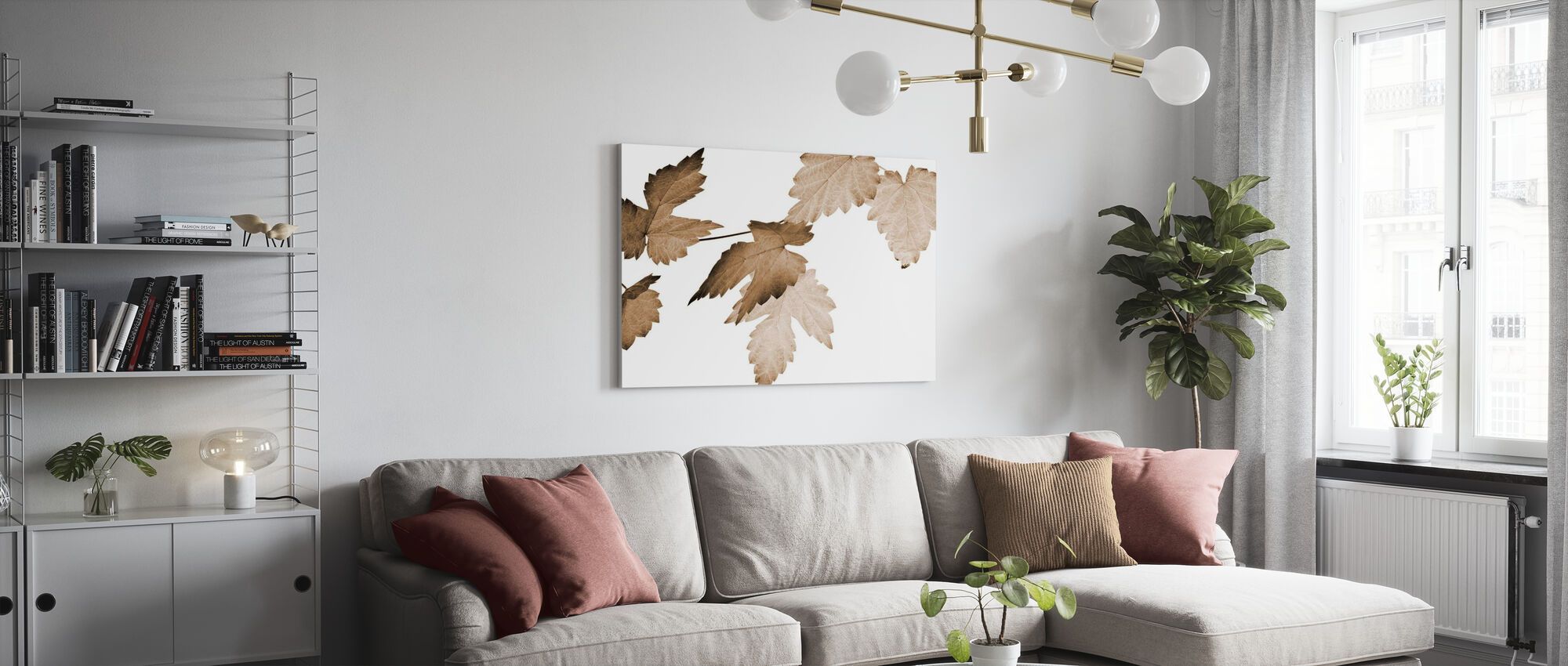 Dancing Autumn Leaves - Canvas print - Living Room