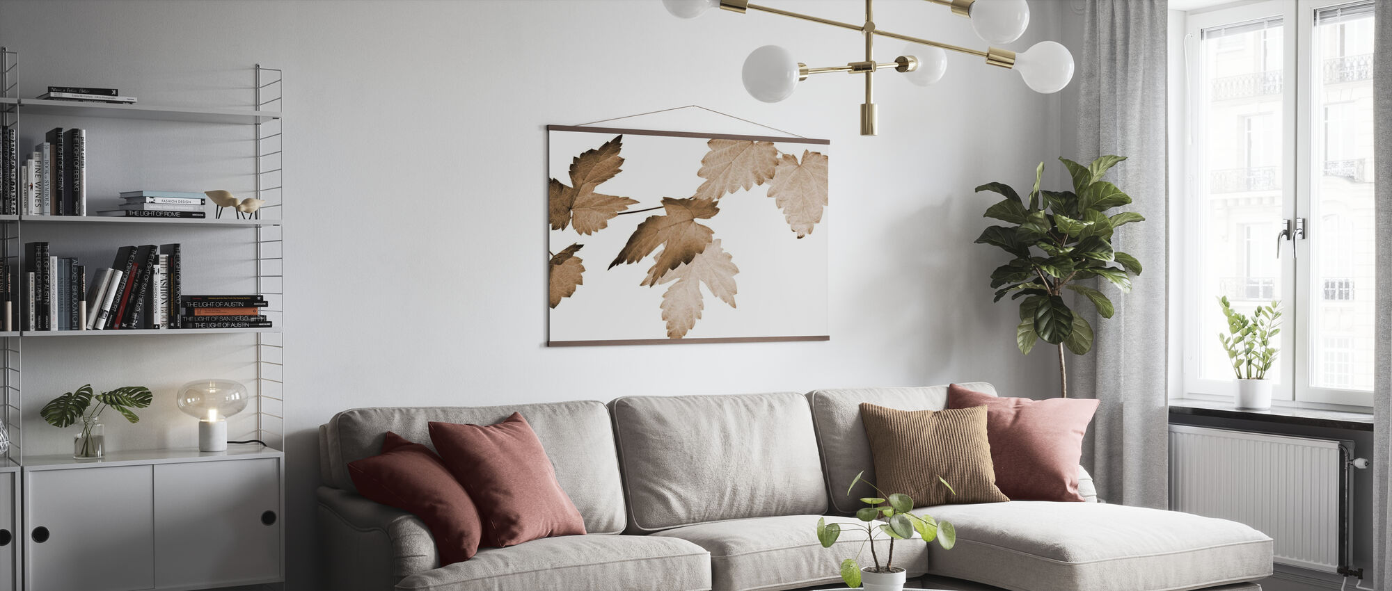 Dancing Autumn Leaves - Poster - Living Room