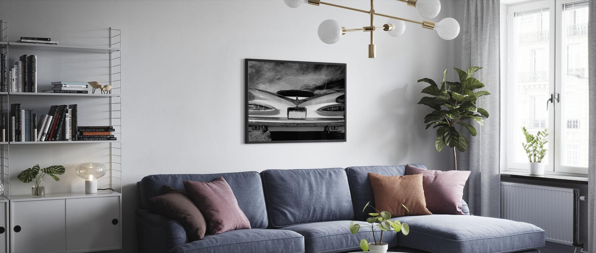 Rear Vintage Car - Poster - Living Room