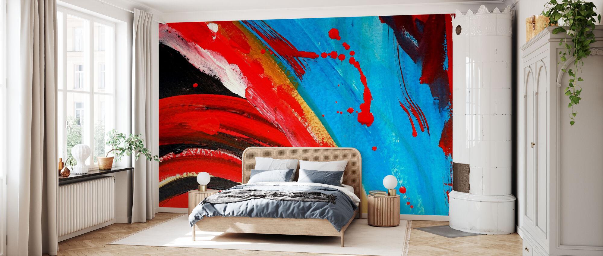 Peinture abstraite - Papier peint - Chambre