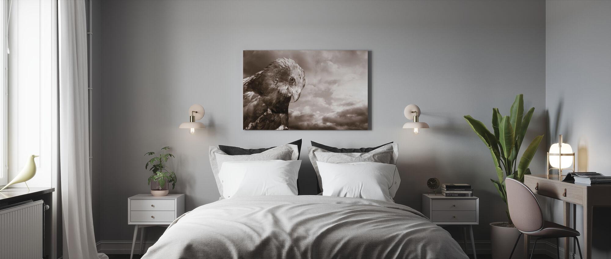 Eagle - Sepia - Canvas print - Bedroom
