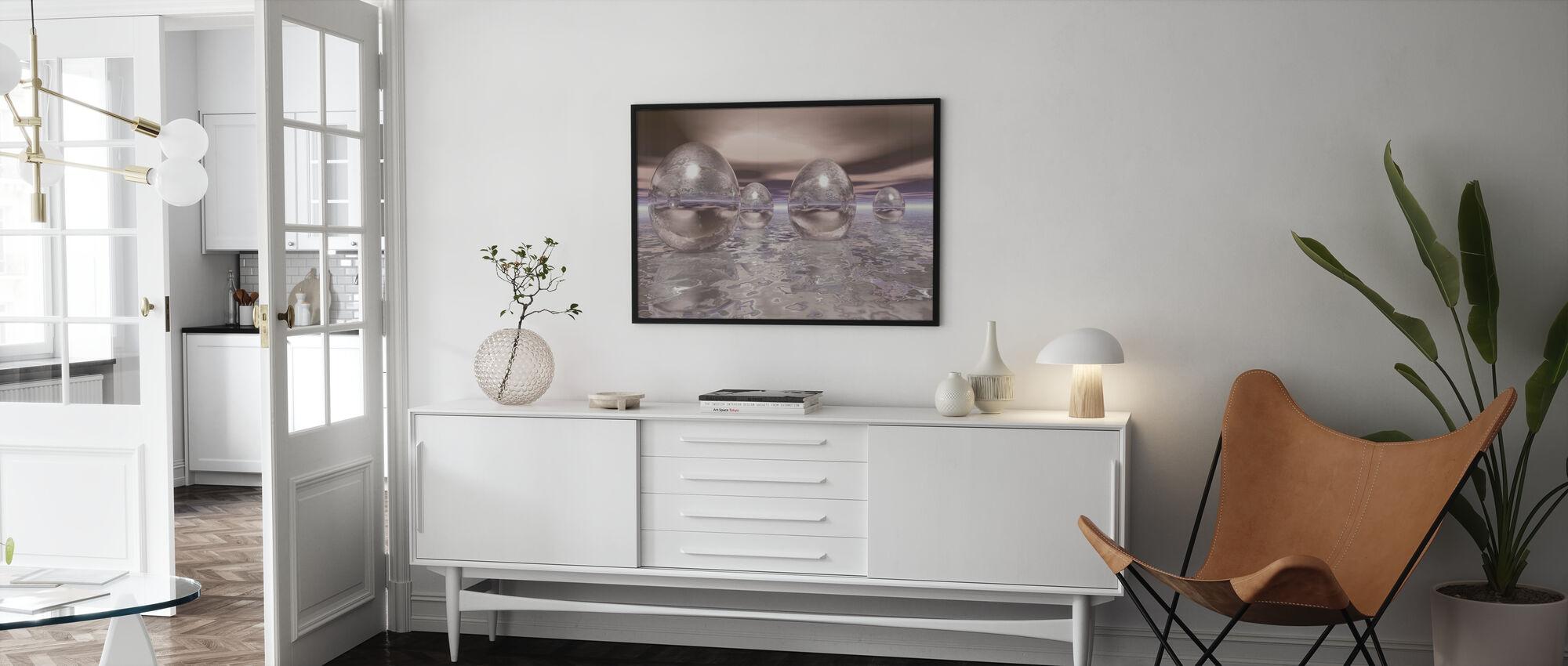 Oeufs flottants 3D - Affiche - Salle à manger