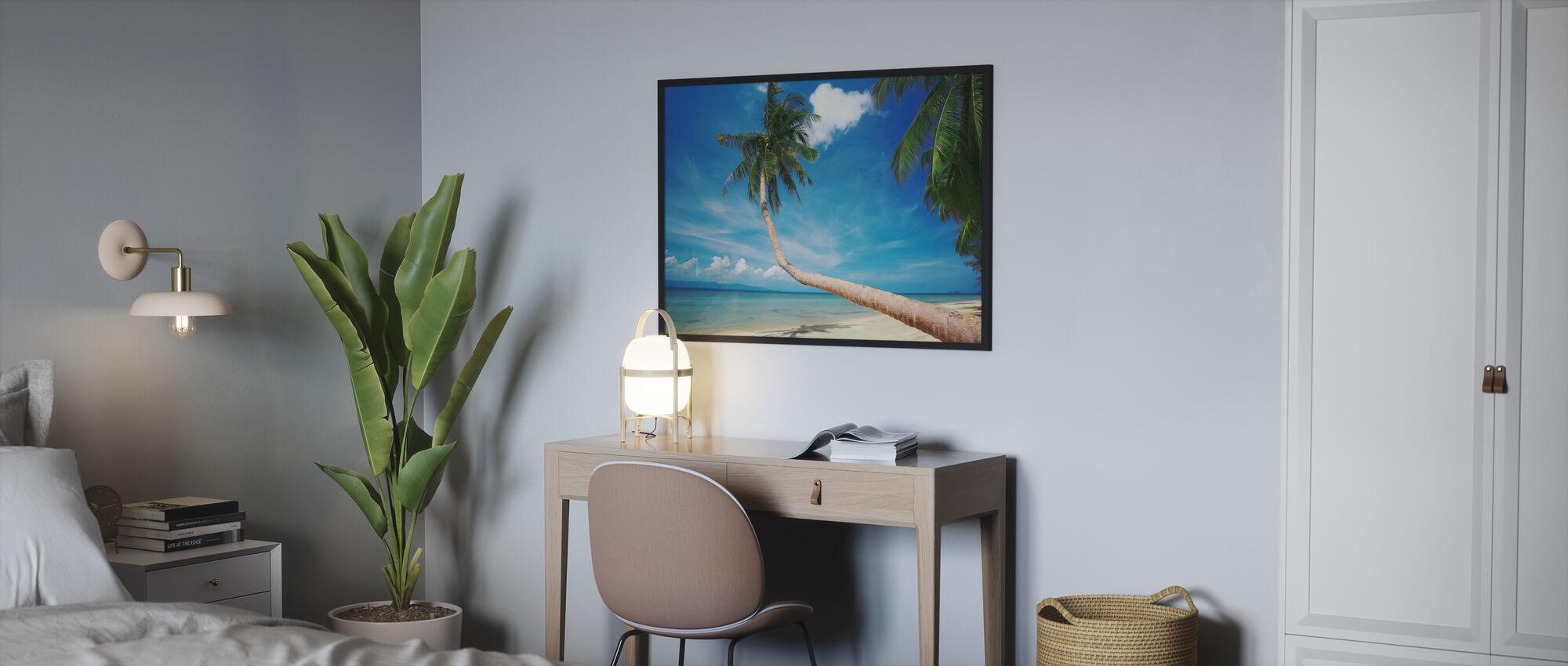 Palm og lykke - Innrammet bilde - Soverom