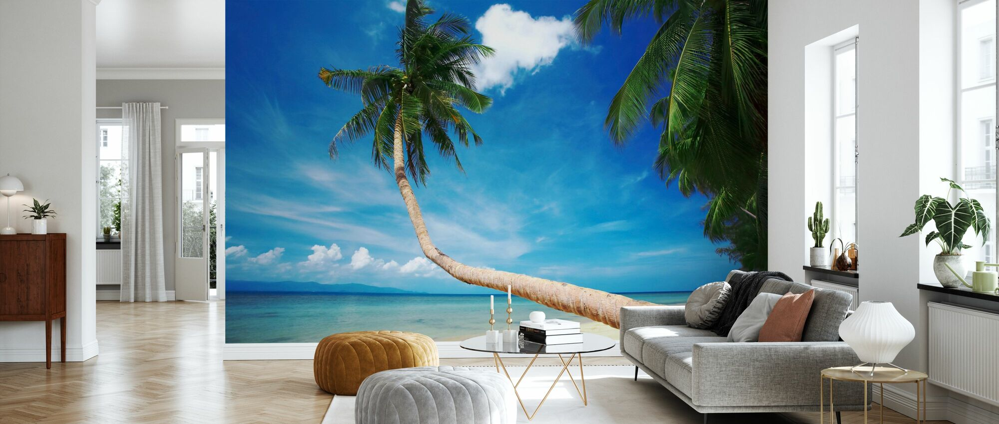 Palm and Bliss - Wallpaper - Living Room