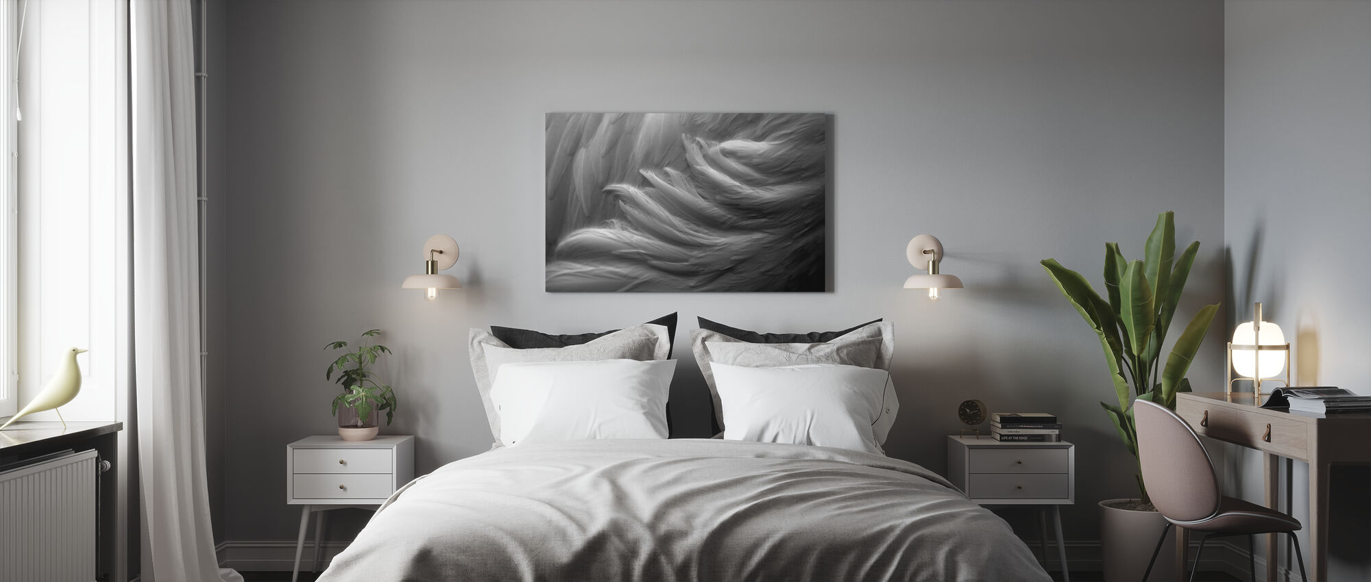 Feather - Canvas print - Bedroom