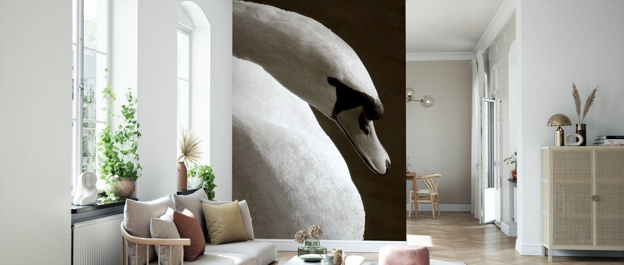 Swan - Wallpaper - Living Room