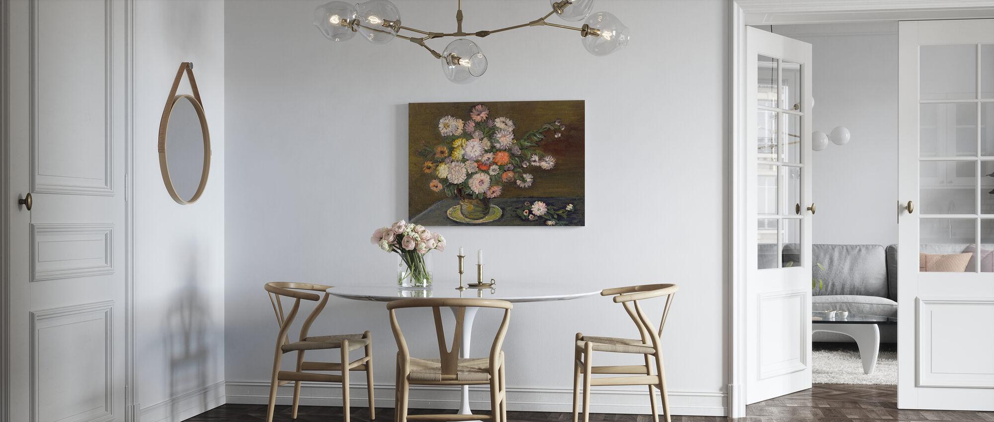 Arrangement floral - Impression sur toile - Cuisine