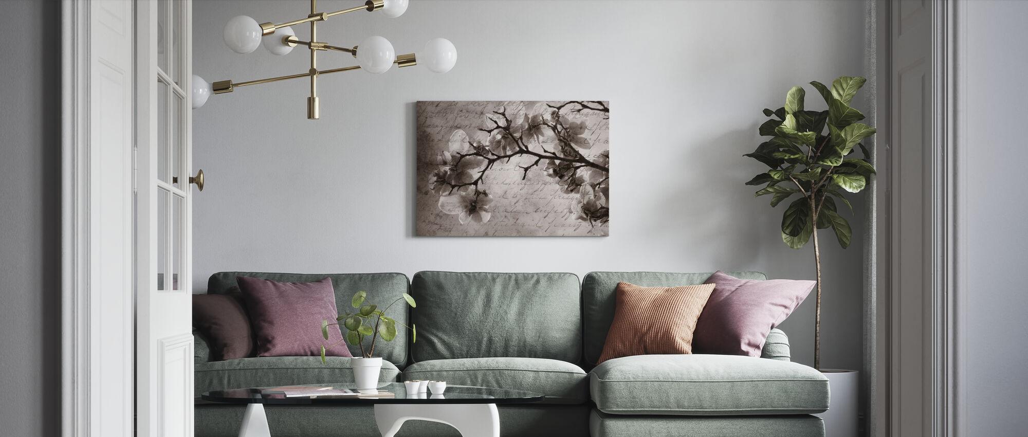 Mémoires Magnolia - Impression sur toile - Salle à manger