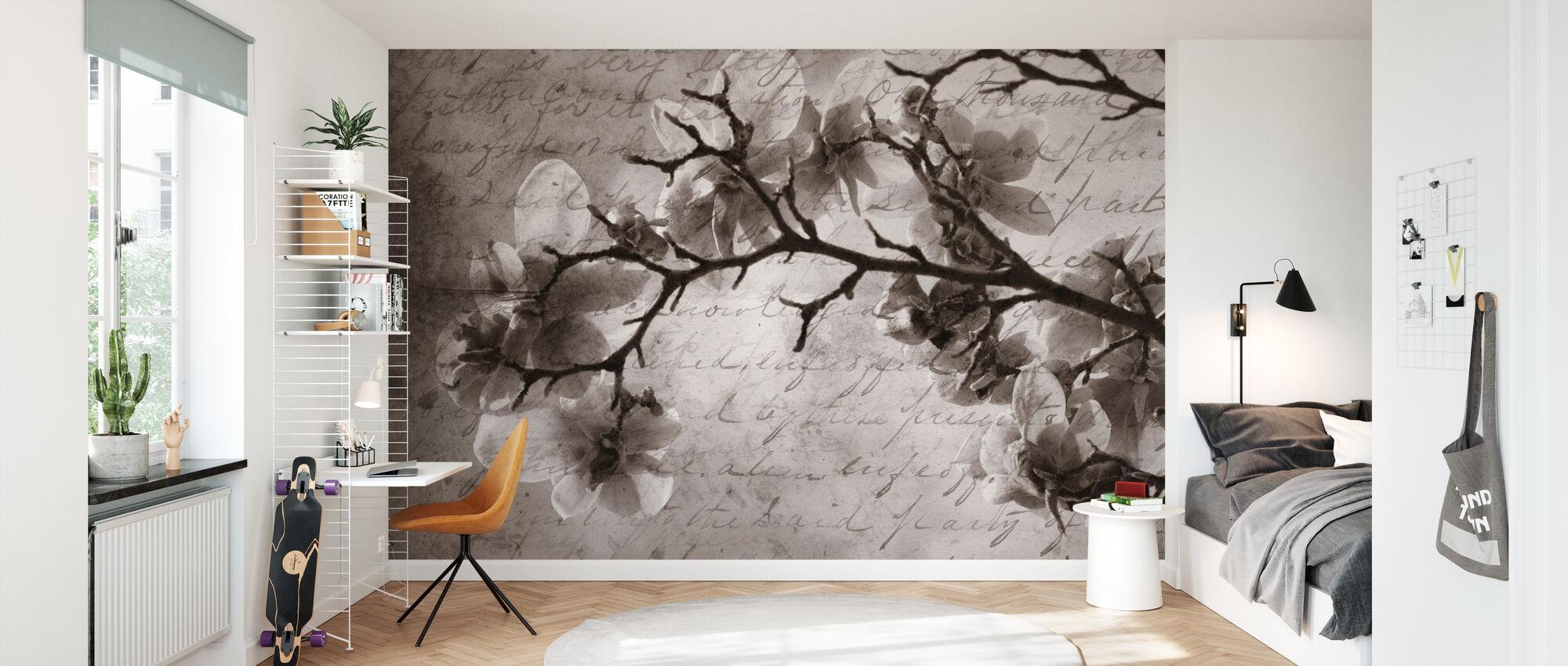 Magnolia minner - Tapet - Barnerom