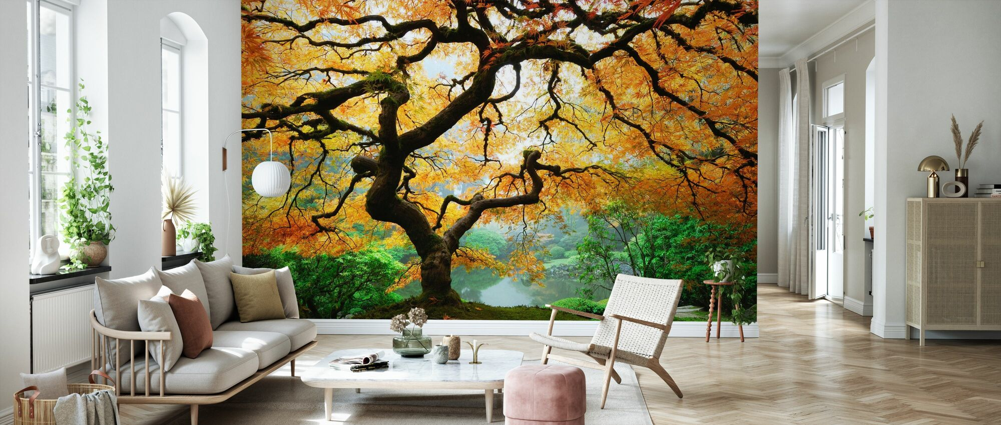 Herfst esdoorn - Behang - Woonkamer