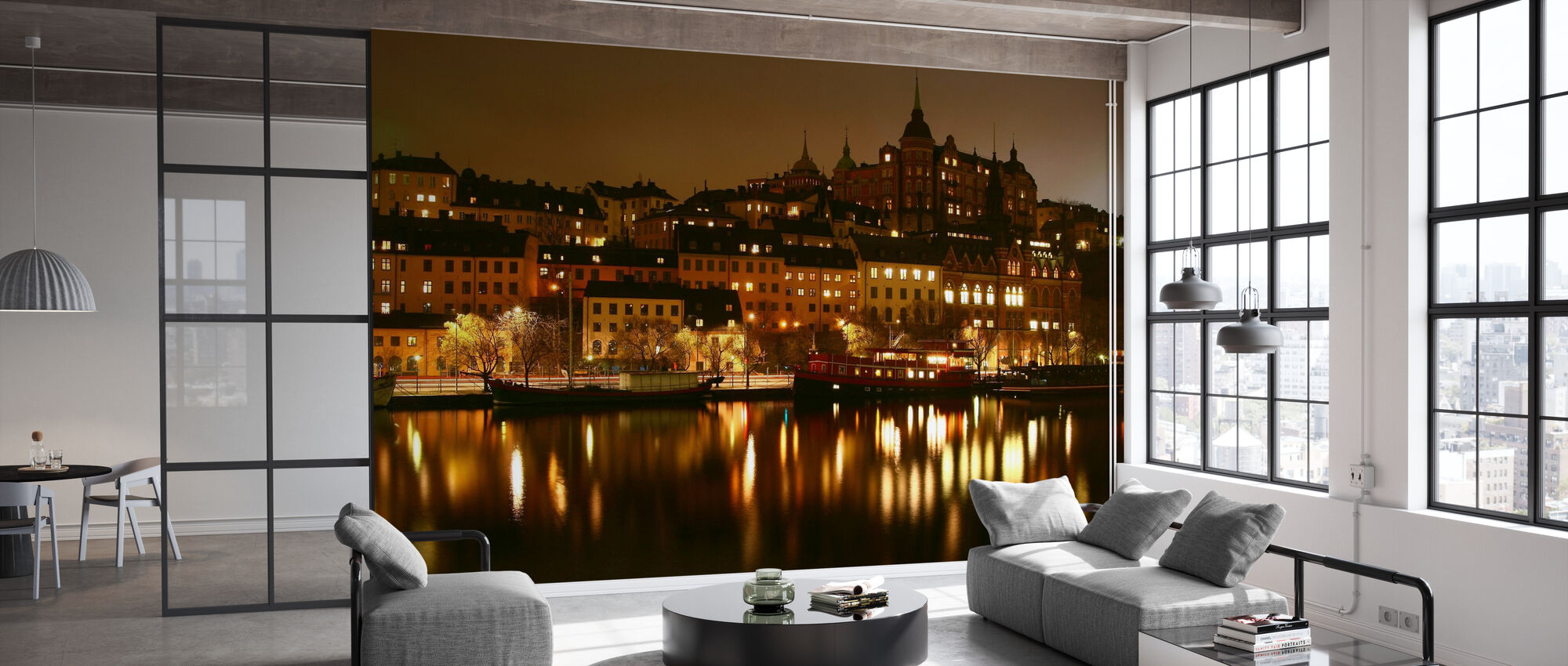 Ljus i Stockholm - Tapet - Kontor