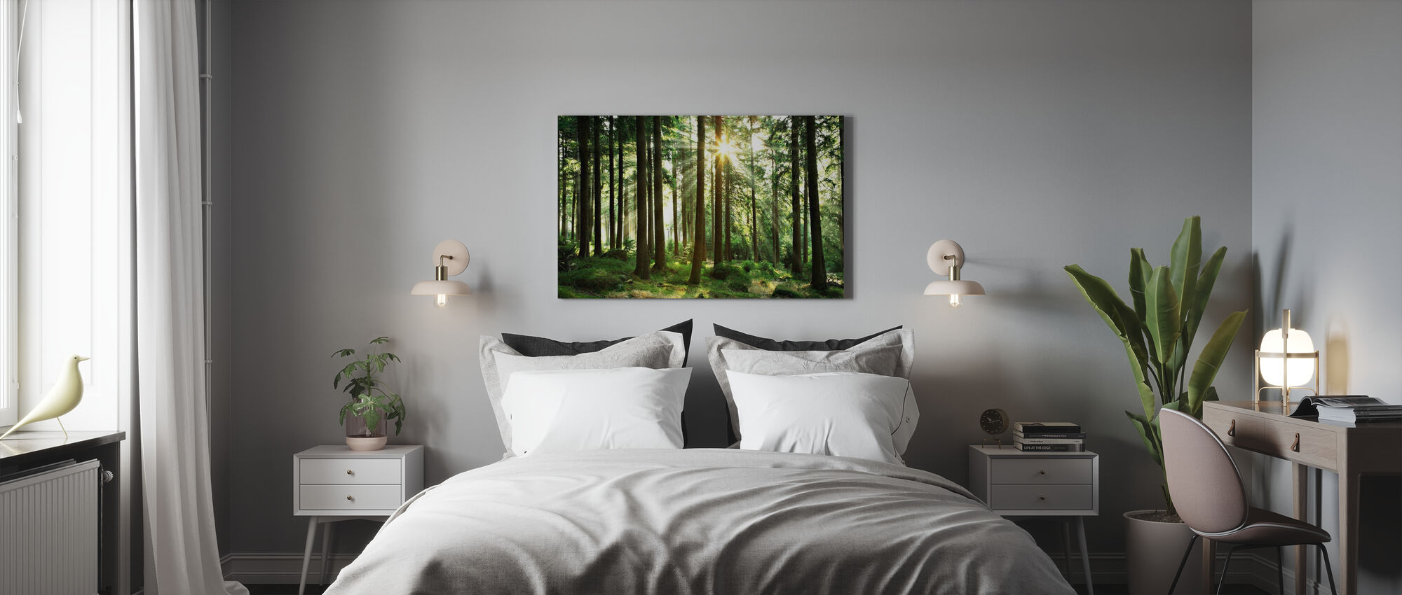 Sunbeam through Trees - Canvas print - Bedroom