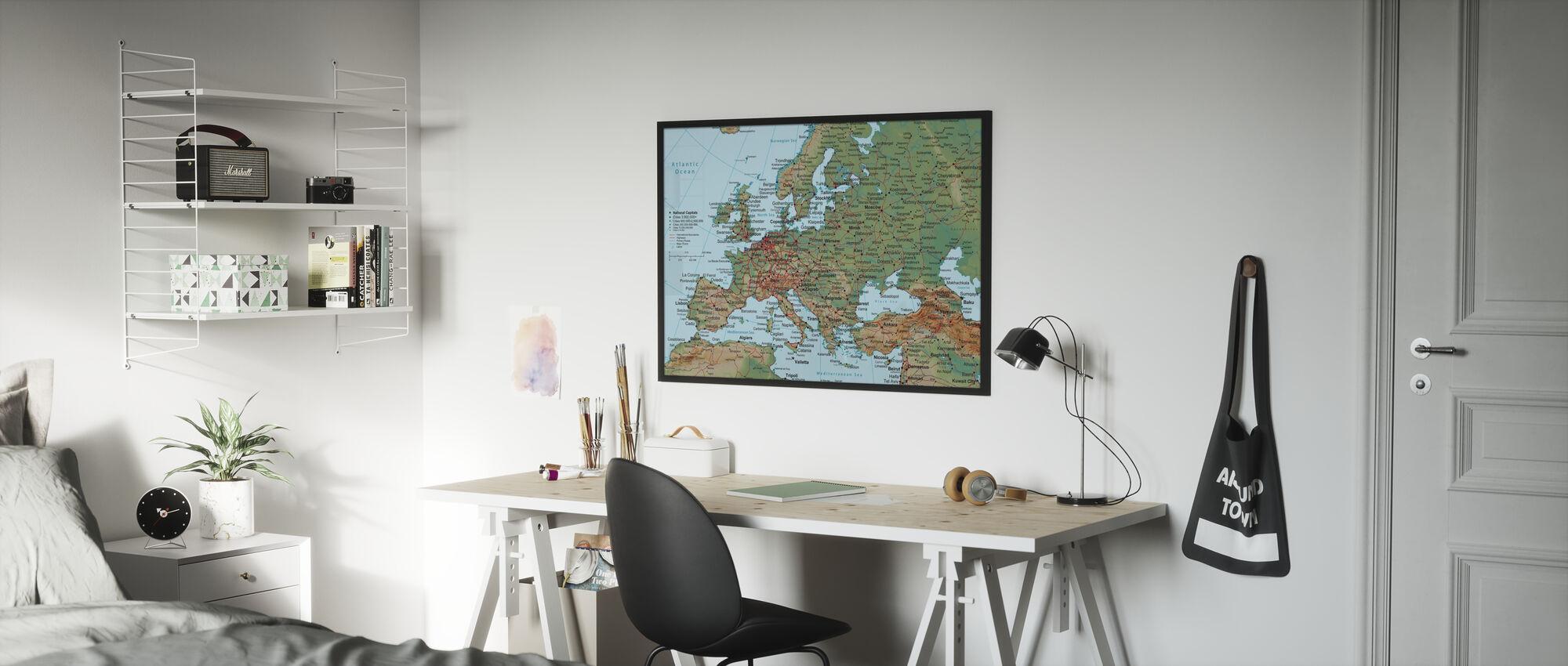 Europa Karte - Poster - Kinderzimmer
