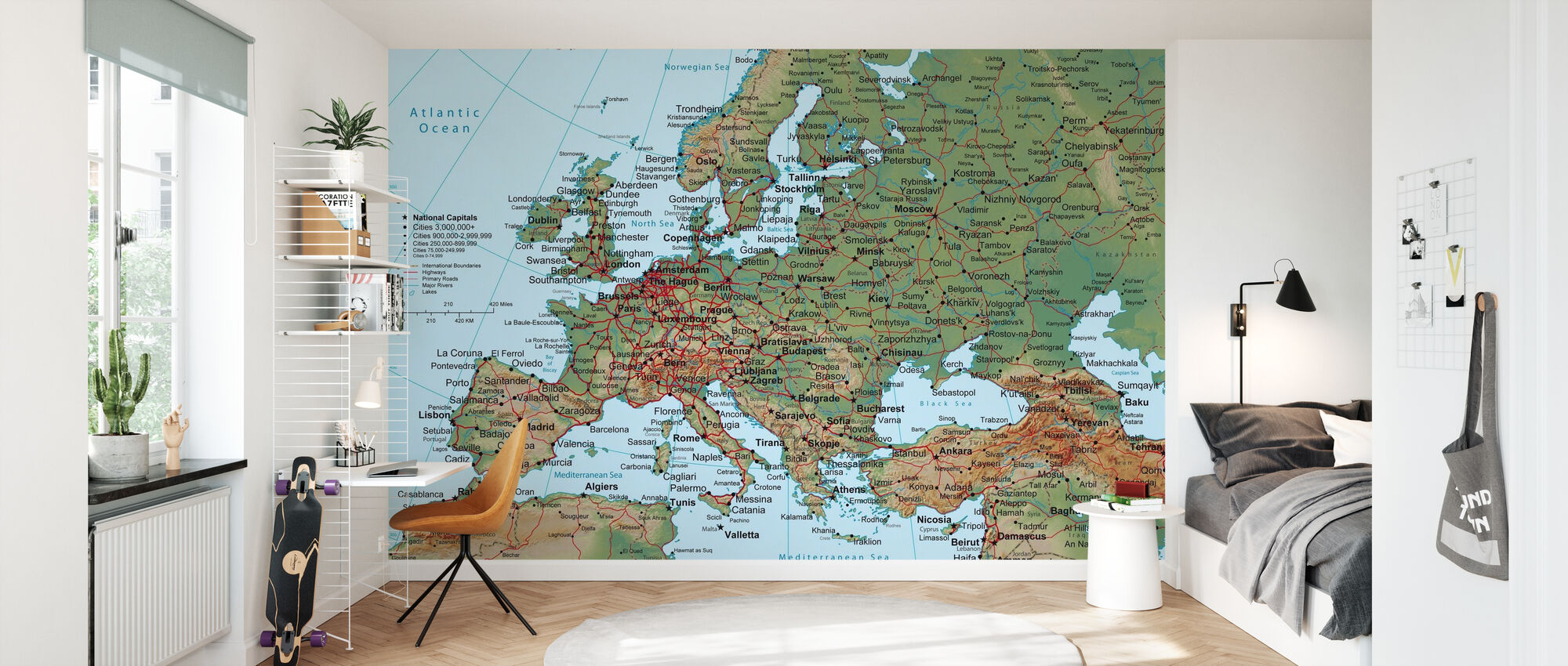 Europa Karte - Tapete - Kinderzimmer