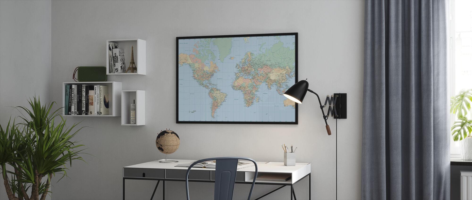 Carte du monde - Affiche - Bureau