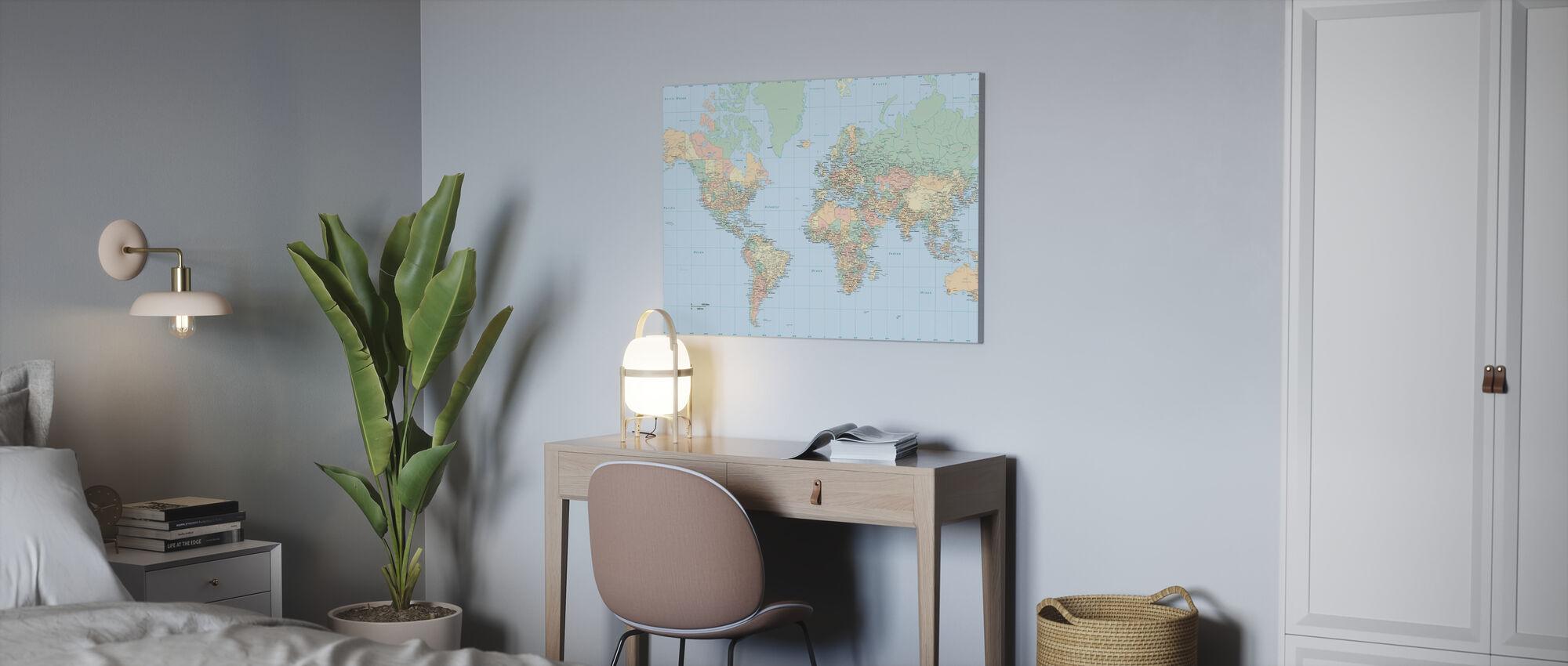 World Map - Canvas print - Office