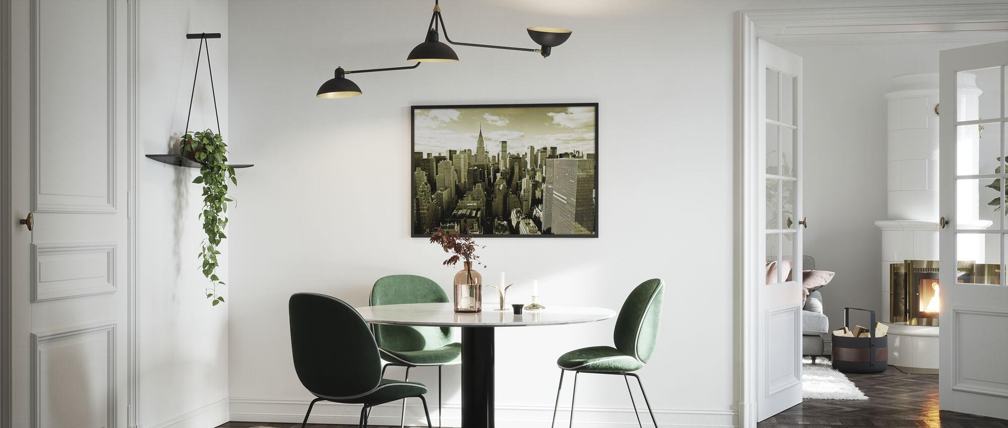 Manhattanin yläpuolella - Kehystetty kuva - Keittiö