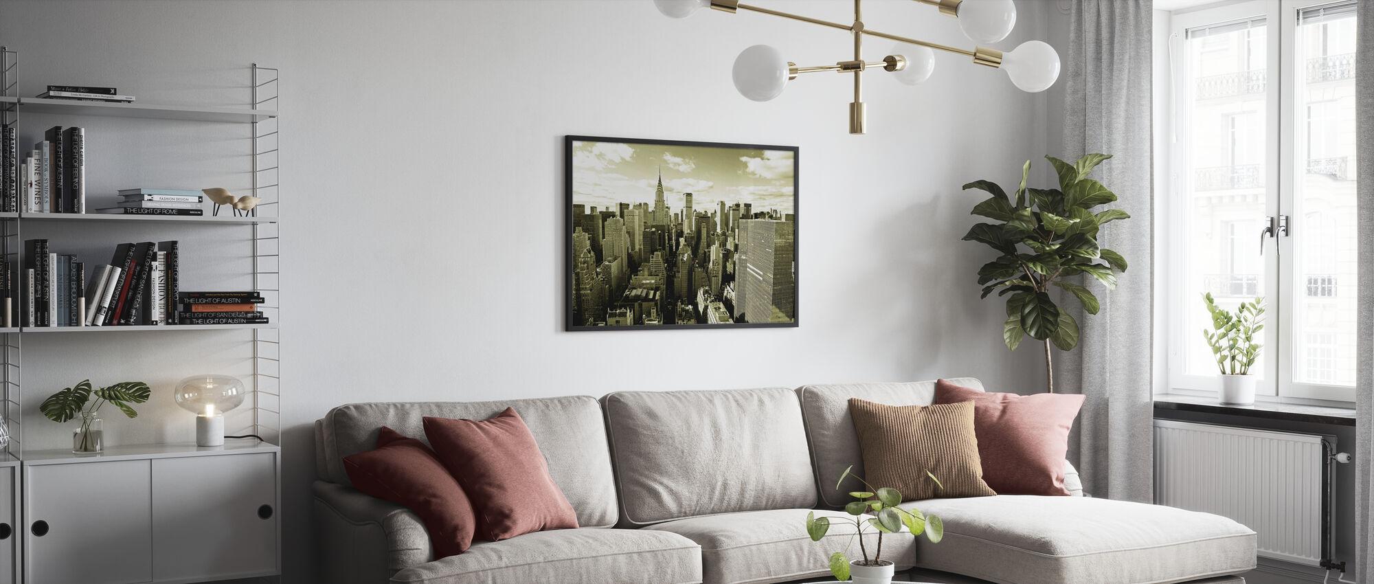 Above Manhattan - Framed print - Living Room