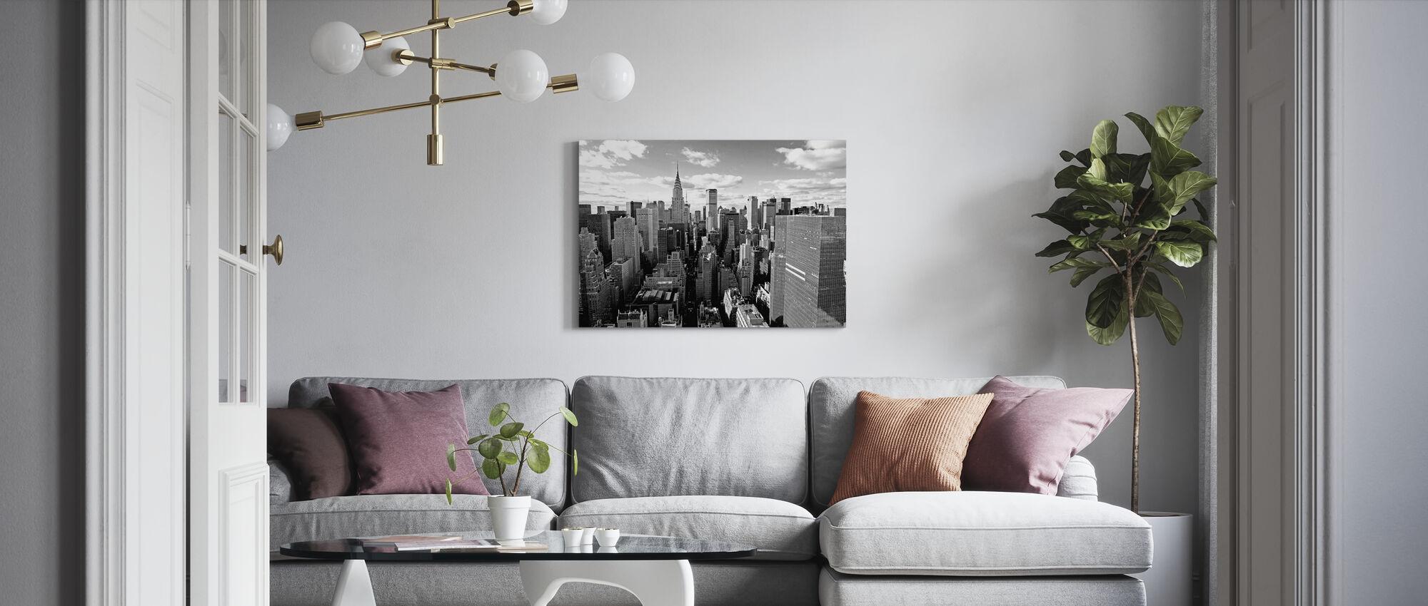 Over Manhattan - Lerretsbilde - Stue