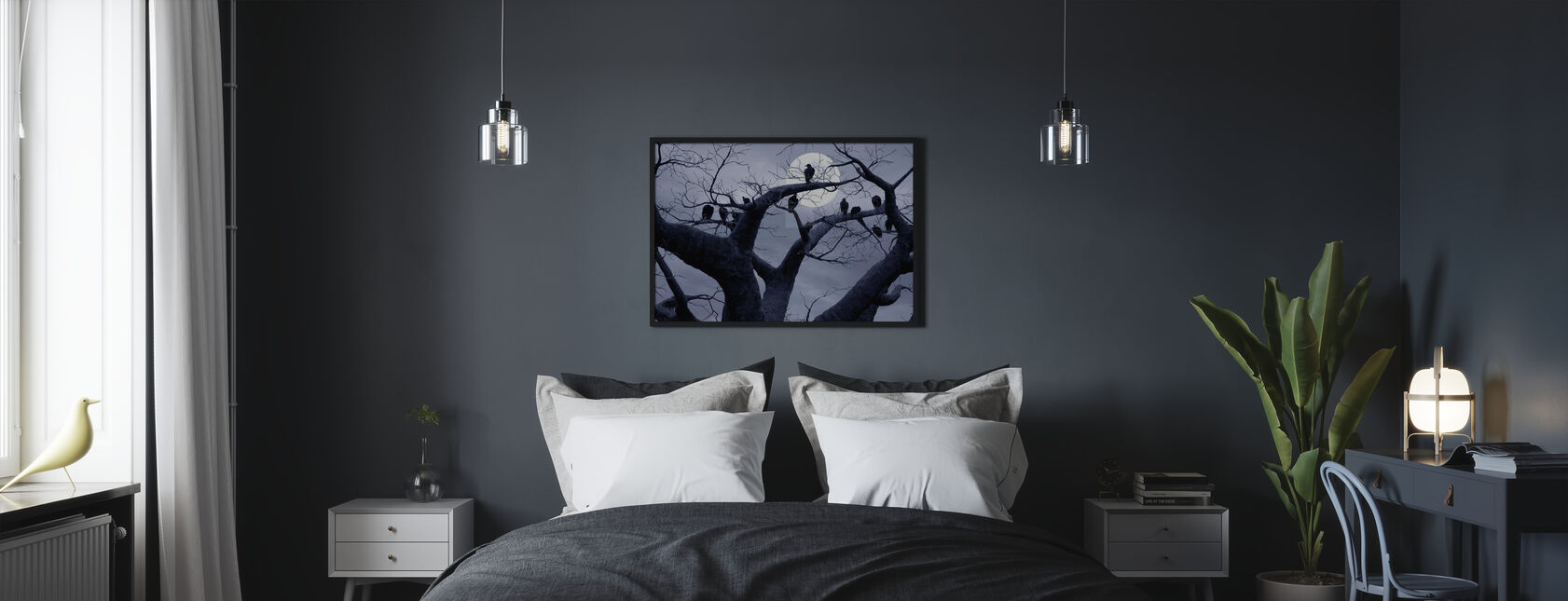 Spooky Tree - Framed print - Bedroom