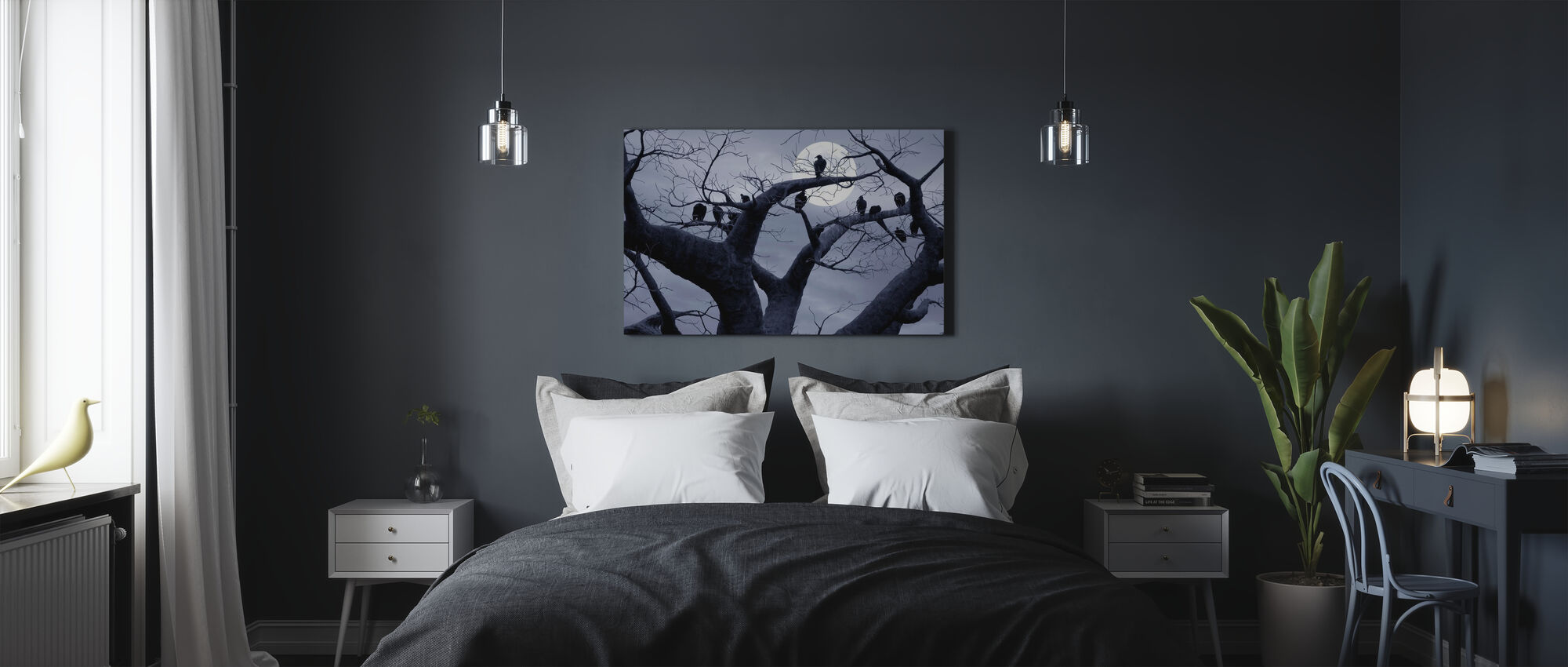Spooky Tree - Canvas print - Bedroom