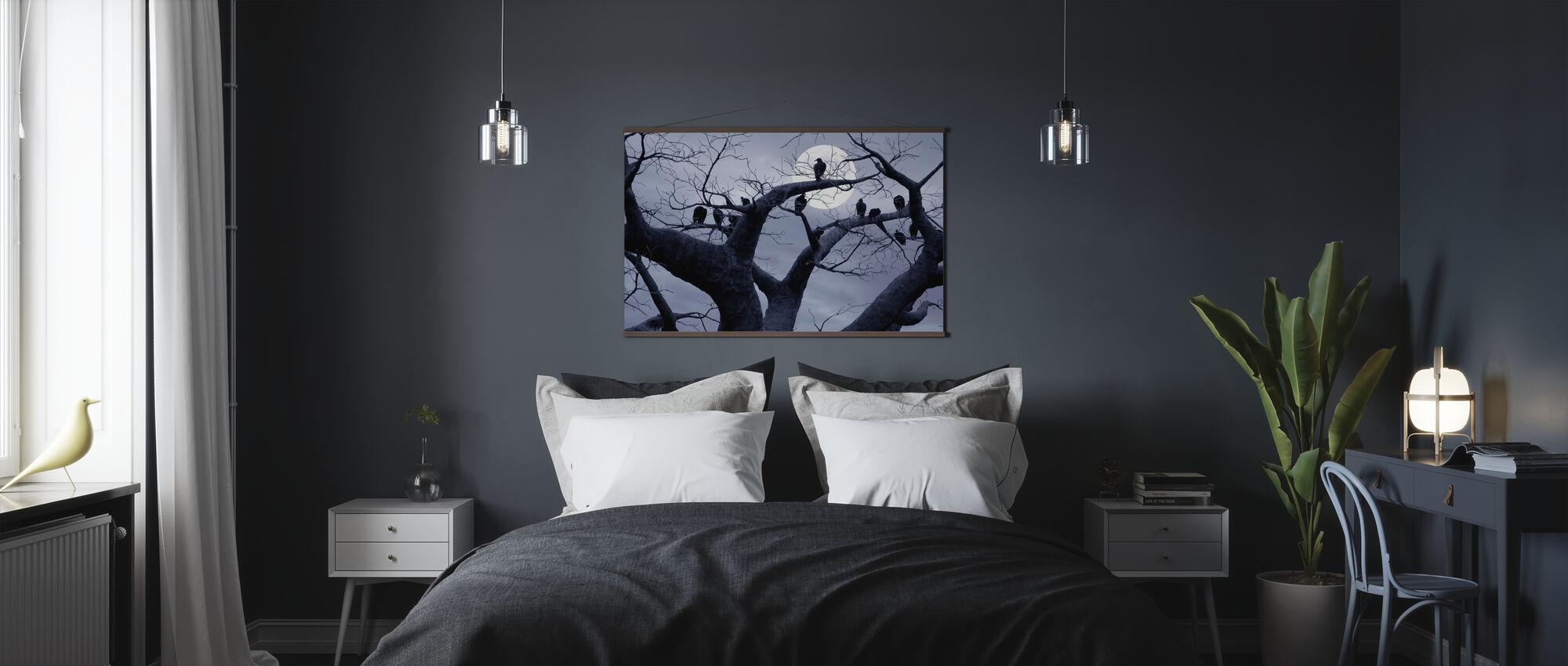 Gruseliger Baum - Poster - Schlafzimmer