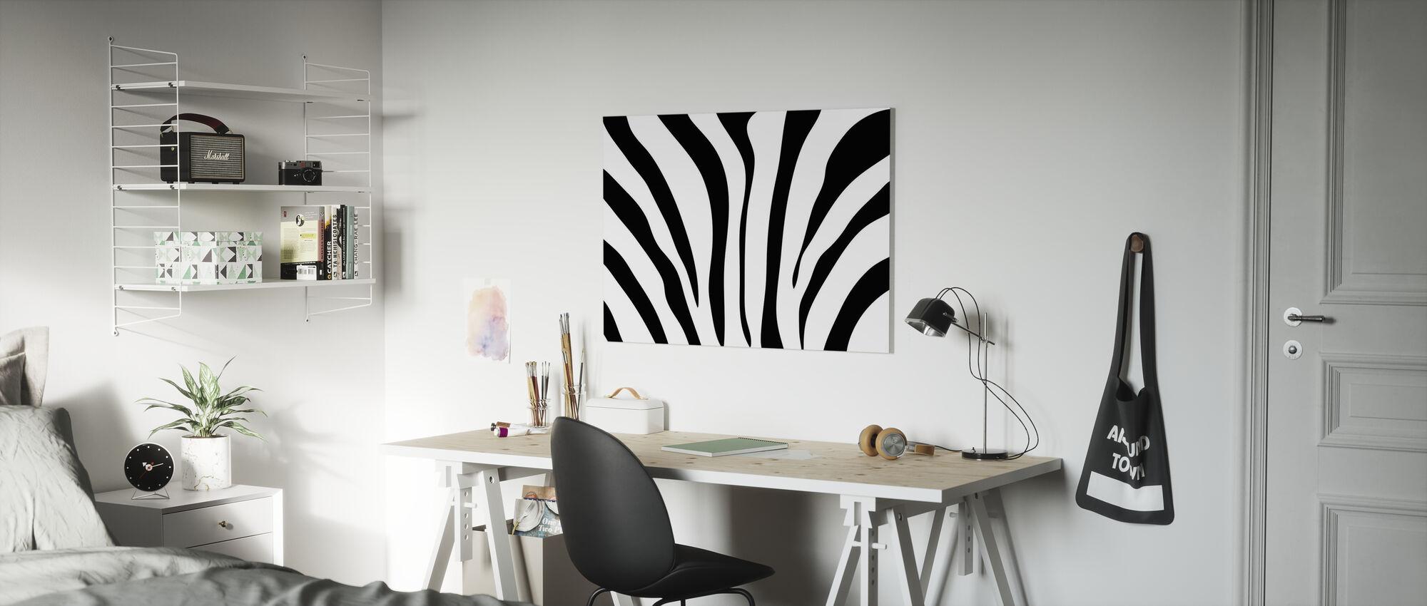 Zebra Texture - Canvas print - Kids Room