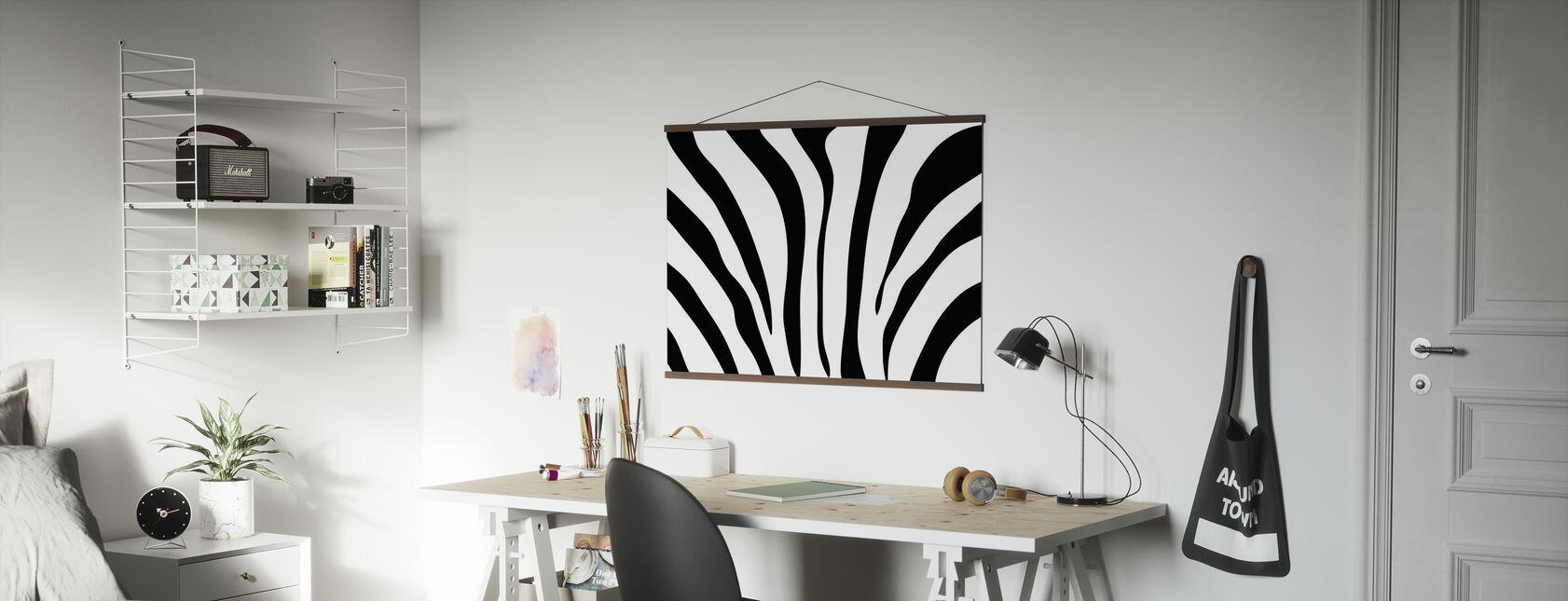 Zebra Textuur - Poster - Kantoor