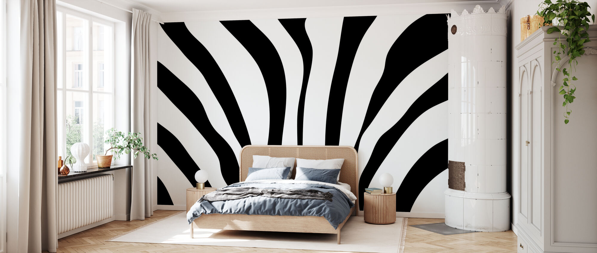 Zebra tekstur - Tapet - Soverom