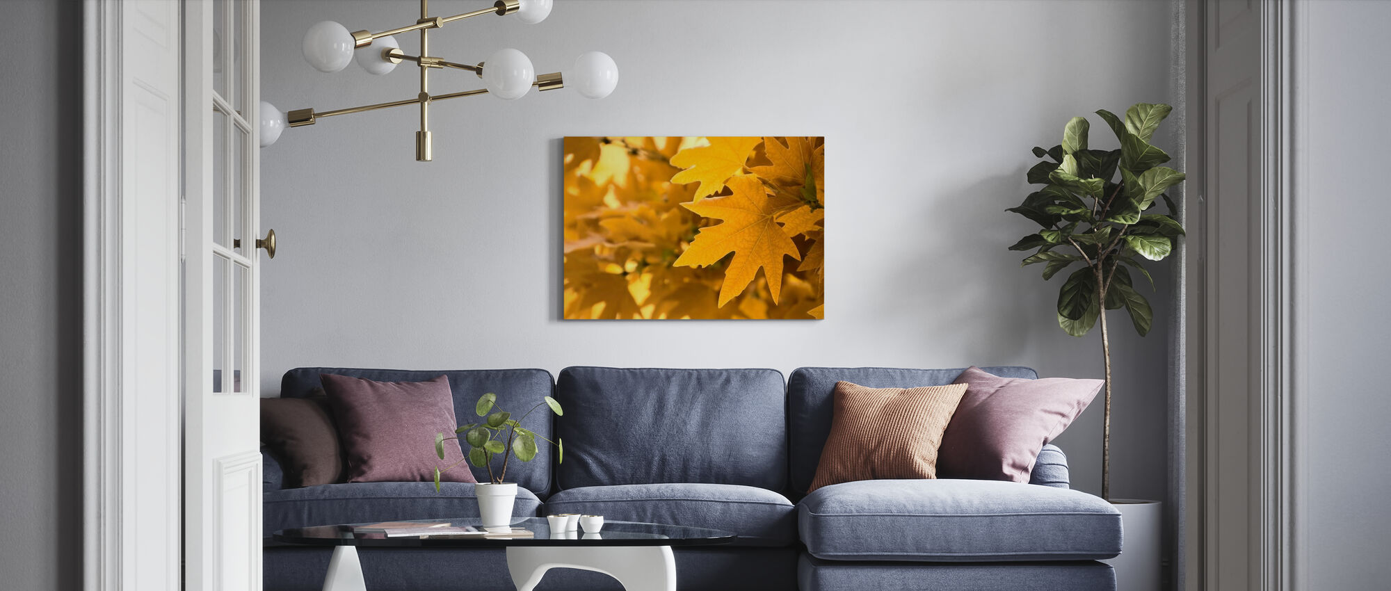 Yellow Leaves - Canvas print - Living Room