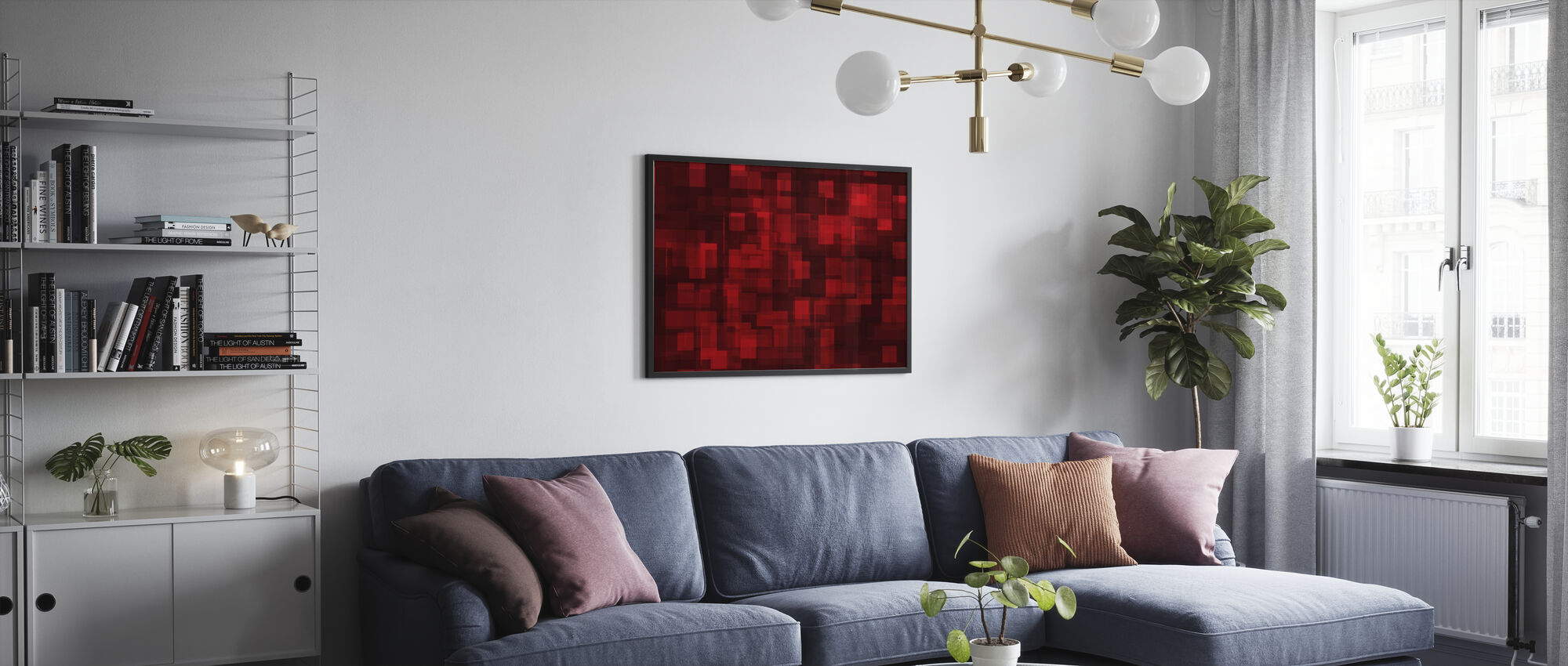 Chaotic Red - Poster - Living Room