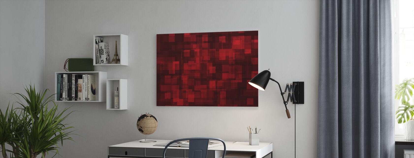 Chaotisch Rood - Canvas print - Kantoor