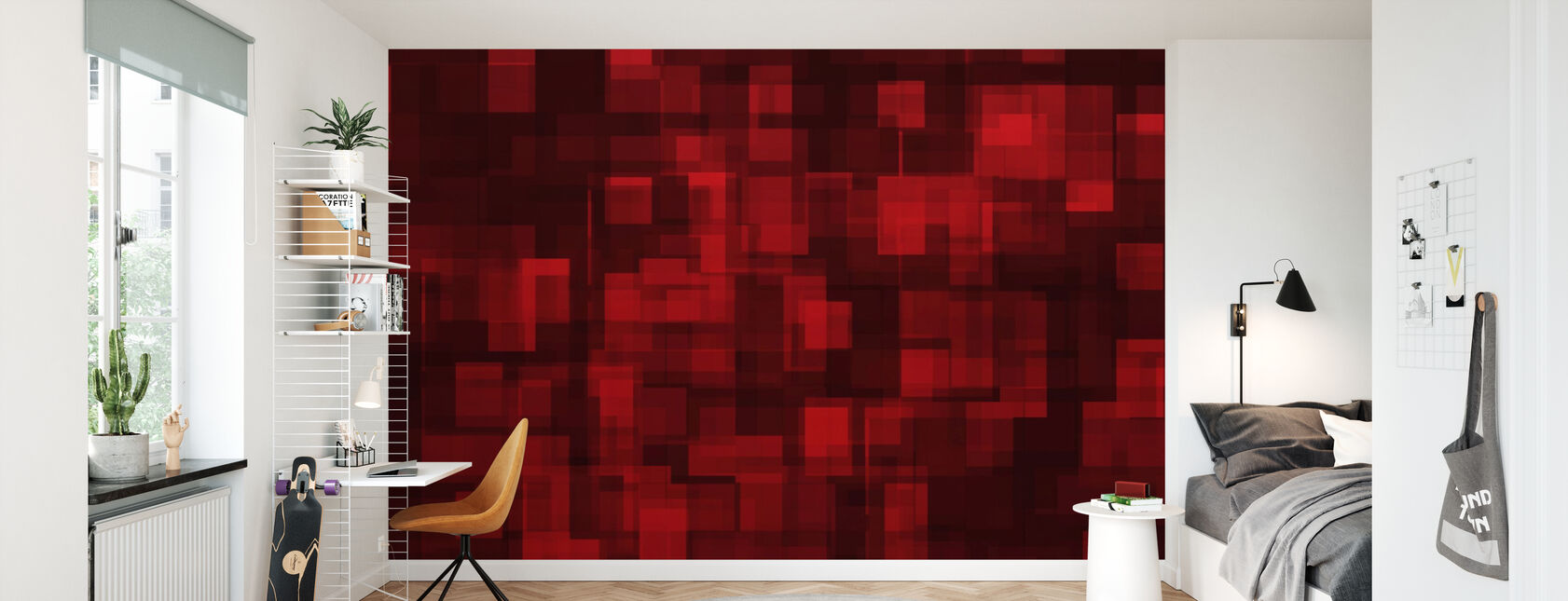Chaotic Red - Wallpaper - Kids Room